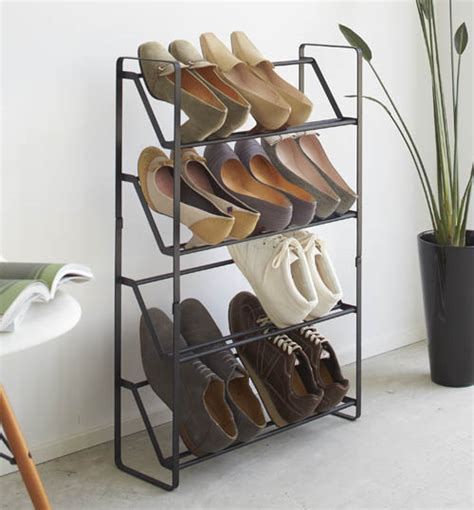 4 tier slimline shoe rack shoe racks shoe storage shelves boot racks welly stands