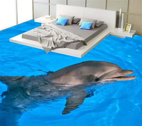 dolphin wallpaper for bathroom dolphin bathroom 3d wallpaper floor 3d wall murals