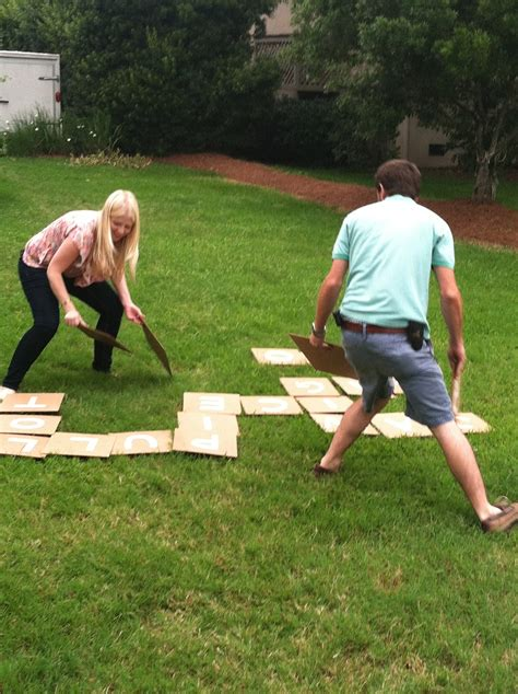 backyard picnic games diy outdoor bananagrams make your own backyard version
