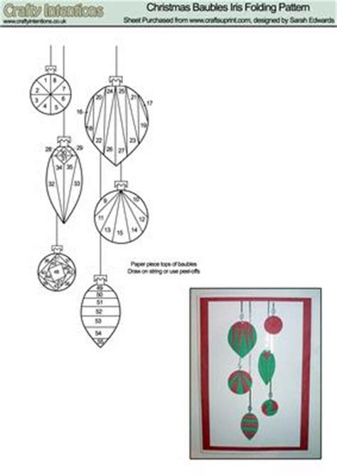 printable folding ornaments christmas baubles iris folding pattern cup20745 172