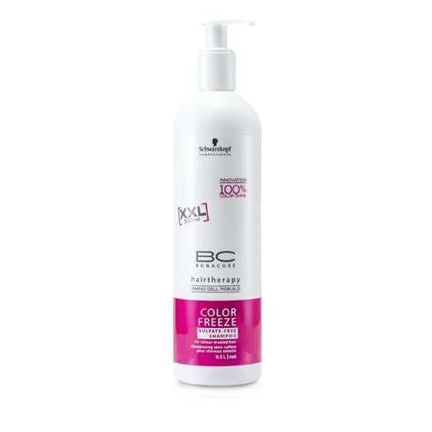 best shoo for color treated hair sulfate free schwarzkopf bc color freeze sulfate free shoo for