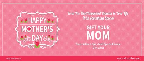 Mother S Day Gift Card Promotions - mother s day offer at synk salon synk salon spa