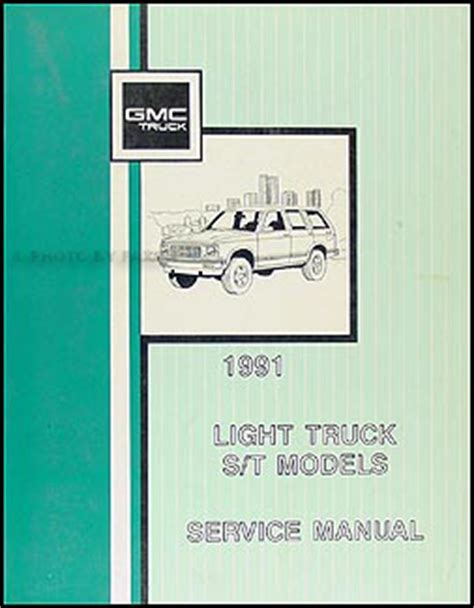gmc  sonoma pickup jimmy wiring diagram manual