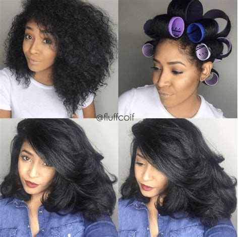 wet set for black hair amazing roller set on natural hair roller set hair