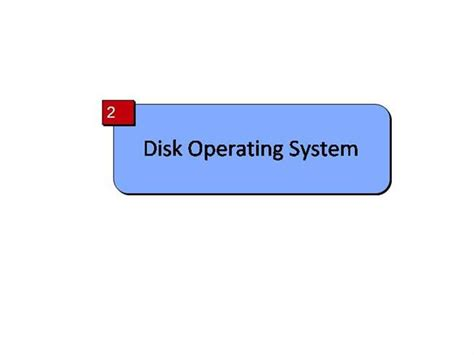 Disk Operating System  authorSTREAM