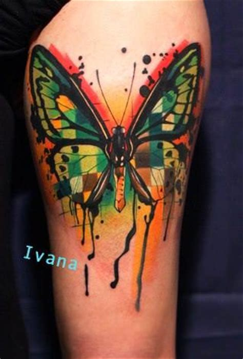 Ivana Belakova Tattoos Paintings Onto Skin 171 Tattoo School Butterfly Tattoos
