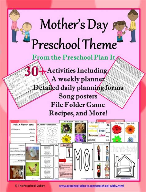 themes for an english day mothers day activities theme for preschool