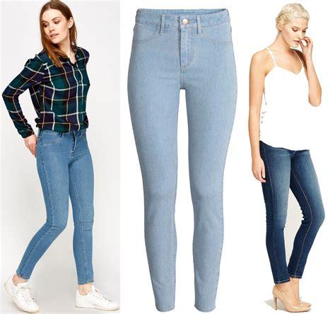 womens new zara slim fit denim trousers