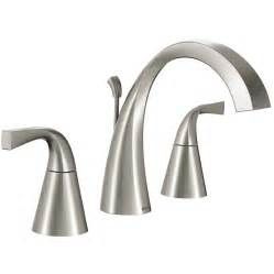 shop moen oxby spot resist brushed nickel 2 handle
