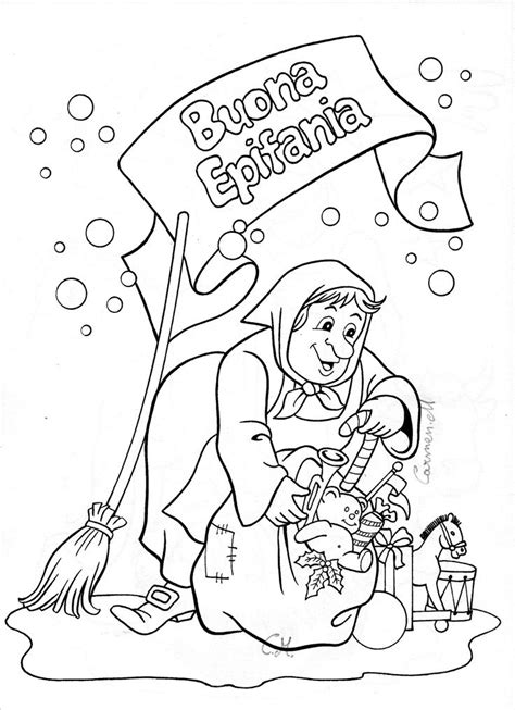 la befana italy christmas coloring coloring pages