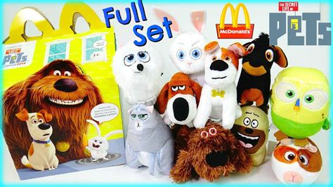 Happy Meal Mcdonald The Secret Of Pets mcdonalds the secret of pets happy meal toys set 2016 with real live guinea pigs
