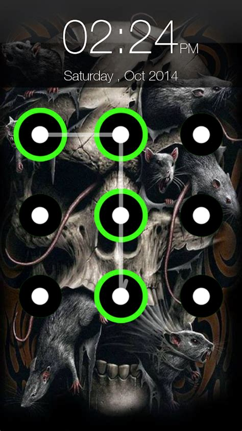 skull pattern lock screen skull pattern lock screen android apps on google play