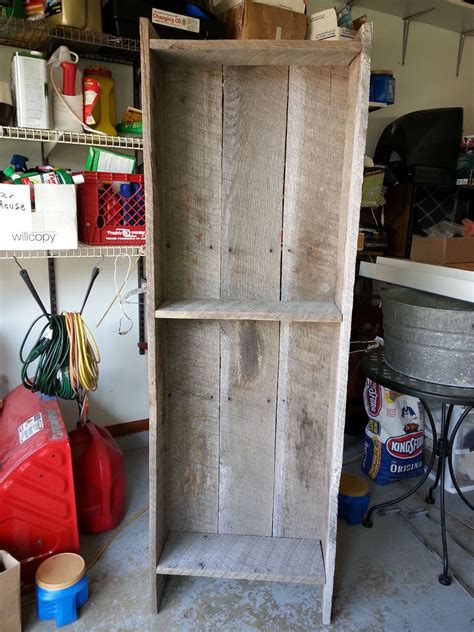 rustic woodworking ideas hometalk rustic bookcase from barn wood