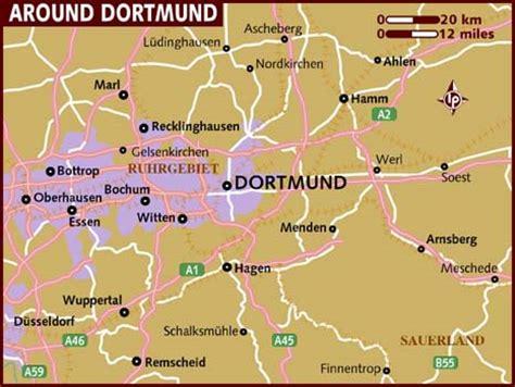 dortmund map of germany map of dortmund