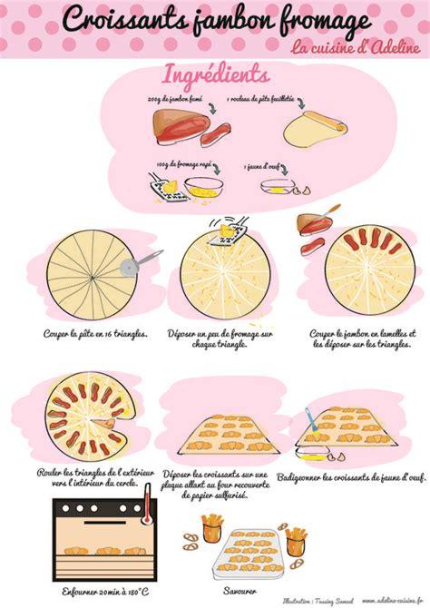 dessin recette de cuisine croissants jambon fromage recette illustr 233 e recette