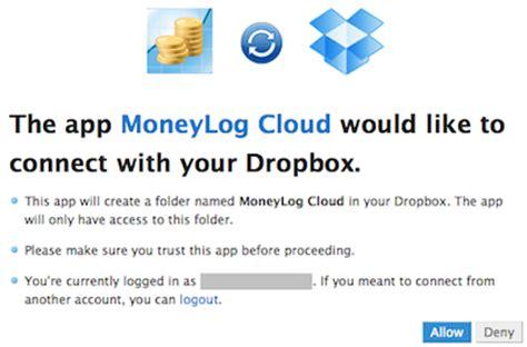 dropbox error 400 moneylog cloud