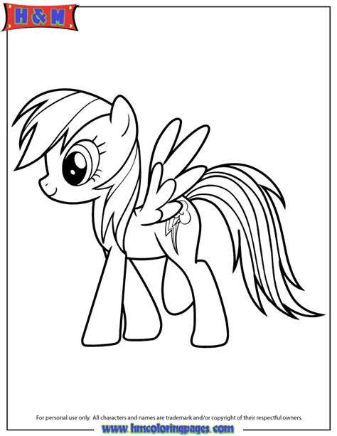 rainbow dash my little pony cartoon coloring page h m