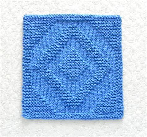 pattern knitted quilt diamond quilt block knitted dishcloth by aunt susan craftsy