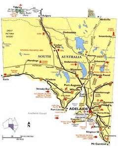 map of south towns south australia region map map of australia region political