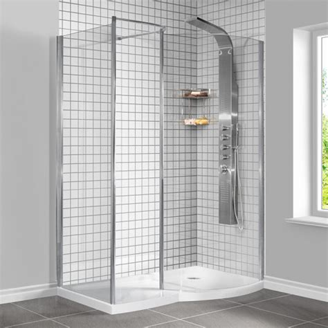 Sale Shower Sal 5 1400 x 900 walk in enclosure including tray and shower panel