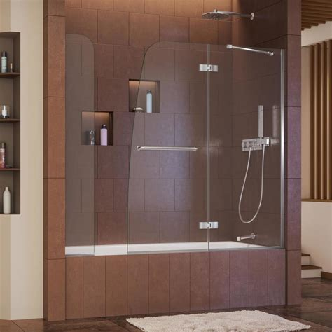 Shop Dreamline Aqua Ultra 60 In W X 58 In H Frameless Tub And Shower Doors