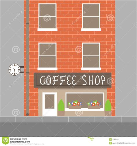 coffee shop graphic design coffee shop building stock vector image 57961261