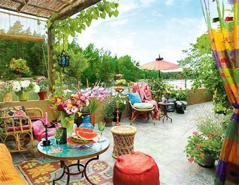 colorful backyard ideas colorful bohemian patio bohemian back yards balconies