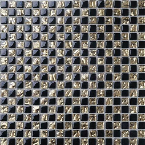 Kitchen Backsplash Stone crystal glass mosaic tile backsplash gold amp black blend