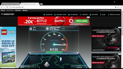 vodafone adsl test iperfibra vodafone speed test 1000 mega