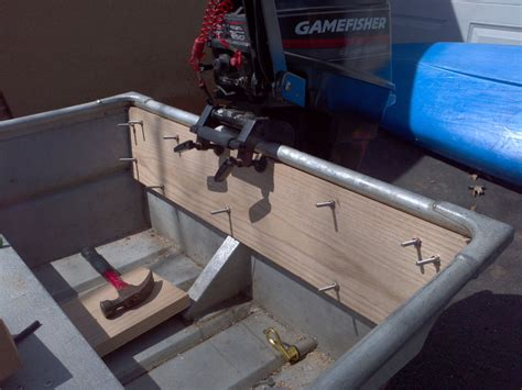 how to strengthen transom on aluminum boat aluminum plate transom aluminum plate
