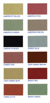 mortar colors rainbow cement color chart