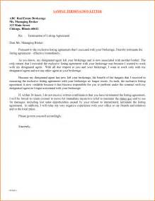 Termination Letter Agreement Sample 6 Contract Termination Letter Sample Free Denial Letter