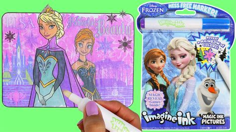 disney frozen imagine ink magic marker activity coloring