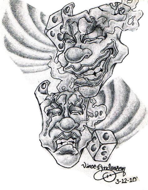 theatre mask tattoo designs drama mask drama masks by hydrauliceye