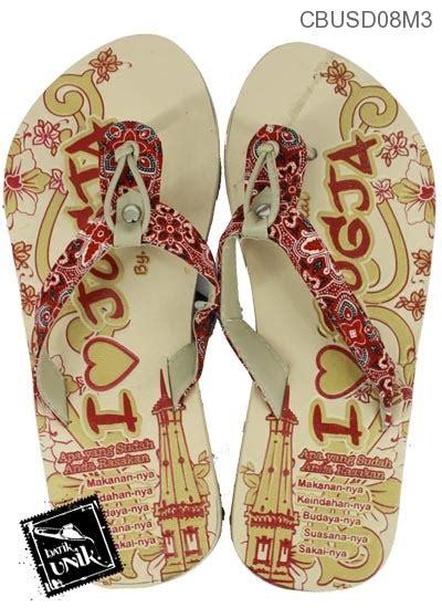 Sandal Jepit Wanita Motif Batik Biru Sendal Kaki Unik Special Edition sandal batik jogja jepit sendok tali sandal etnik murah