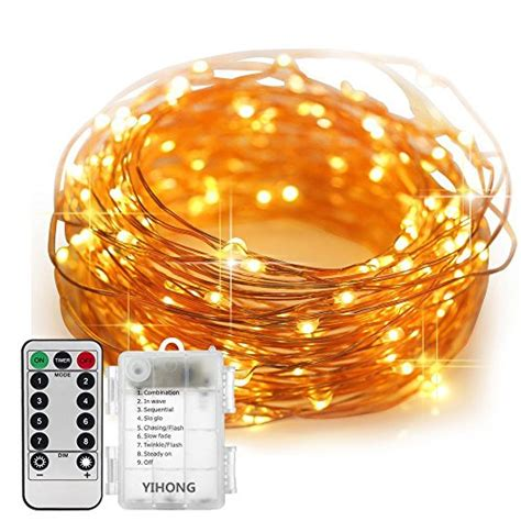 firefly lights copper wire lights fairy lights battery operated yihong 8 modes string lights