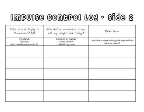 Managing Impulsivity Worksheets by Related Keywords Suggestions For Impulse Worksheets