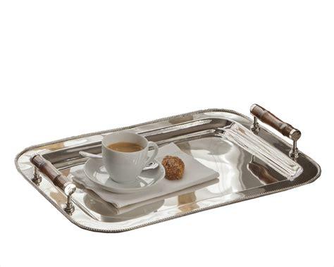 nickel tea set with bamboo handle tray sold seperately nickel tray rect with bamboo handle home decor