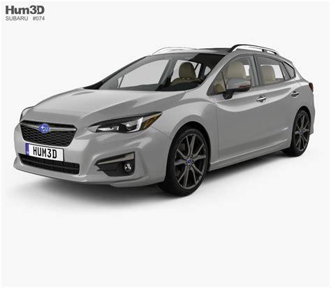 2016 subaru impreza hatchback interior subaru impreza 5 door hatchback with hq interior 2016 3d