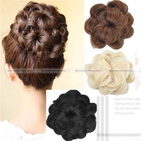hairstyles with one piece extensions 1pc large curly drawstring clip in on messy hair bun piece