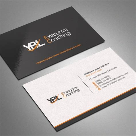 High End Business Cards create a high end business card for executive coaching