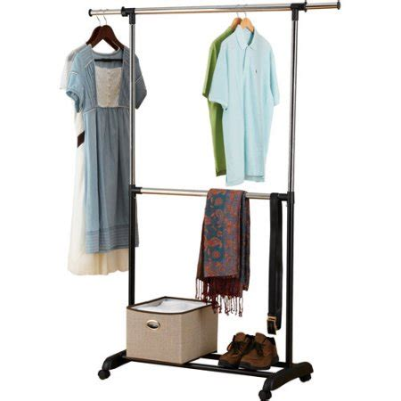 Garment Rack Walmart by Mainstays Adjustable 2 Tier Garment Rack Chrome Walmart