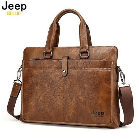 Bag Jeep Brown 9211 jeep style business leather briefcase jeep tribe