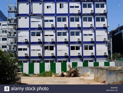 Temporary Housing by Temporary Housing For Construction Workers Made Out Of