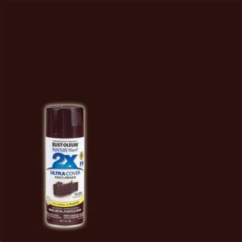 rust oleum painter s touch 2x 12 oz gloss kona brown general purpose spray paint 6 pack