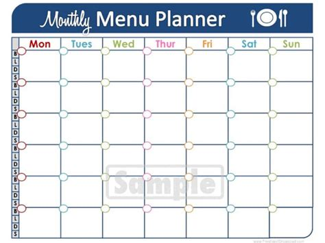 printable monthly meal planner unavailable listing on etsy