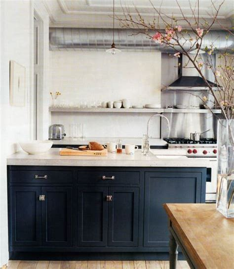 dark blue kitchen drab or fab navy blue cabinets design style