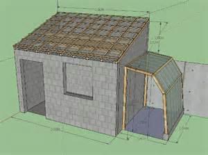 plan abri de jardin parpaing une pente