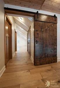 Barn Doors In Homes Barn Doors Made From Reclaimed Douglas Fir Salvaged From A Nearby Warehouse Living Room