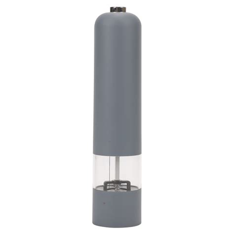 electric salt pepper mill grinder with light battery operated electric soft touch plastic salt and